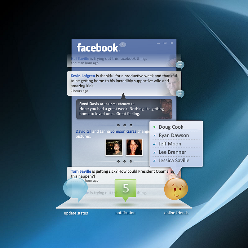 Facebook Desktop Concept